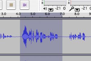 markierter Ausschnitt in der Waveform